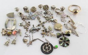 Mixed Lot Of Sterling Silver Jewelry