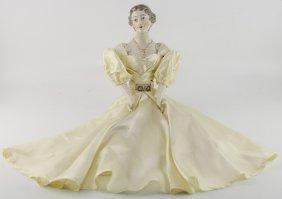 Gilt Porcelain Estate Doll 1957