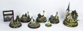 Lot Of Thomas Kinkade Lighted Figurines