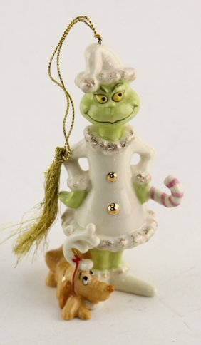 Lenox Porcelain Dr Suess Grinch Ornament