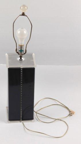 Optique Contemporary Table Lamp | Lucite & Metal