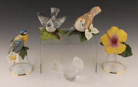 Lenox Porcelain Bird & Flower Figurines