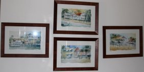 4 Signed Laurie Wagner Prints