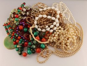 Mixed Lot Of Estate Costume Jewelry