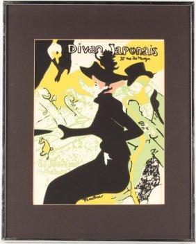 H Toulouse Lautrec Divan Japonais Serigraph Print