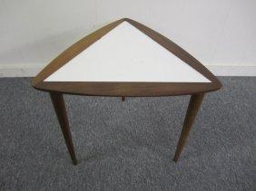Small Mid-century Modern Triangular Side Table