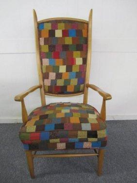 Dunbar Style Tall Fruitwood Armchair