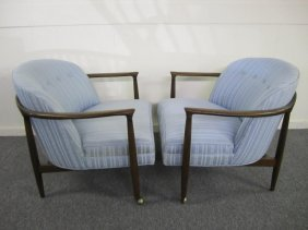 Excellent Pair Selig Kofed Larson Lounge Chairs