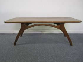 Adrian Pearsall Style Sculptural Walnut Coffee Table