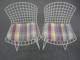 Charming Pair Harry Bertoia Childrens Chairs