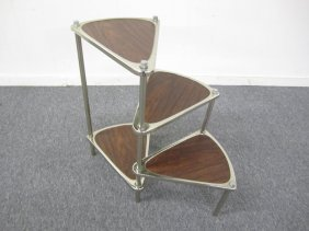 Unique Laurel Mid-century Spiral Chrome Library Steps
