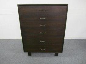 George Nelson Herman Miller Tall Dark Walnut Dresser