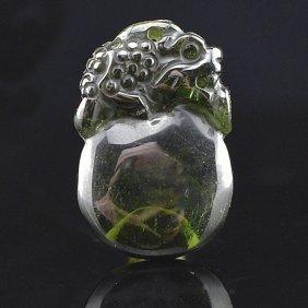 Natural Brazilian Green Tourmaline Pendant