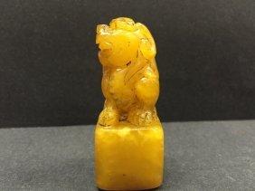 Antique Shoushan Stone Seal Carving Pixiu