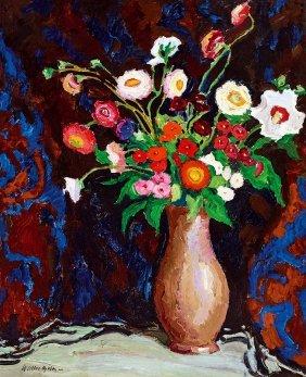 Balla Bela, 1882-1965, Studio Still-life With Flowers