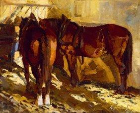 Kieselbach Geza, 1893-1965, Horses, 1919