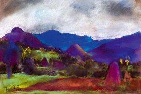 Jandi David, 1893-1944, Nagybanya Landscape, 1926
