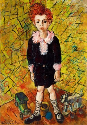Peterdi Gabor, 1915-2001, Boy In Striped Socks