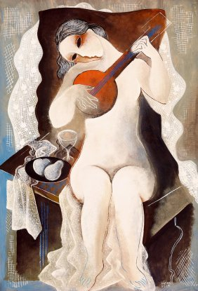 Kadar Bela , 1877-1956, Art Deco Nude (girl With A