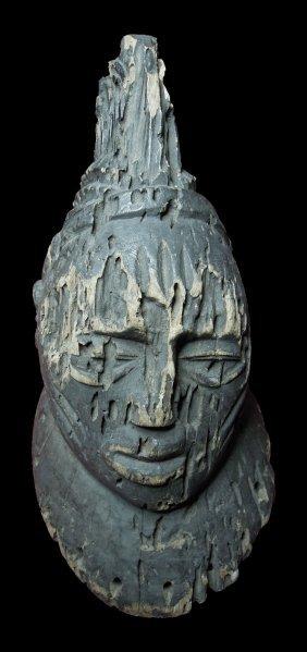Mali Senufo Tribe Wooden Male Head Early 1900 39 Cm