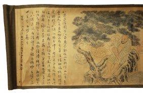 Silk Handroll Painting Fanli Chin Seal 1796-1820