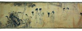 Silk Handroll Painting Master San Su 1750 Ad