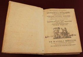 Dissertazione Antichità Italiane 1753 Naples A