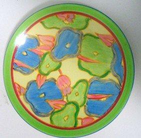 "Clarice Cliff ""Blue Chintz"" Plate"