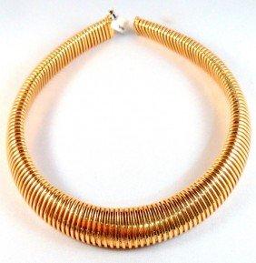 Italian 18K Y.G. Choker Necklace