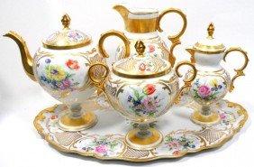 Limoges Porcelain Hand-Painted Tea Set