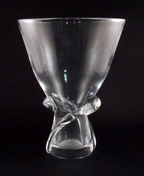 Steuben Crystal Spiral  Glass Vase