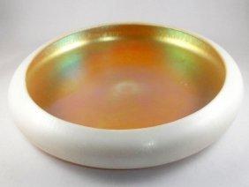 Steuben Gold Aurene And Calcite Bowl