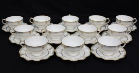 "24 Pc. Royal Crown Derby ""lombardy"" Tea Cups & Saucers"