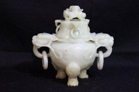 Beautiful Chinese Jade Incense Burner