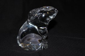 Baccarat Crystal Rabbit Paperweight