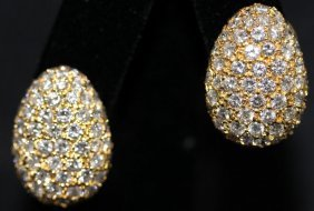 18kt Yg & Diamond Earrings