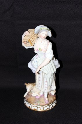 Meissen Hand Painted Porcelain Group