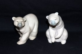 Two Lladro Porcelain Bears