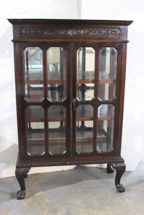 Antique American Mahogany Glass Display Case