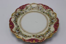 Limoges Hand Painted Porcelain Plate