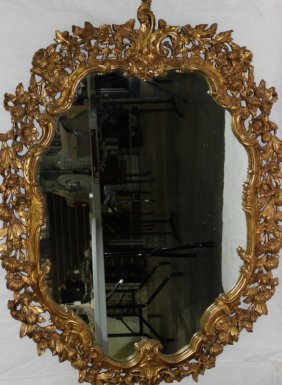 Beautiful Gold Leaf Mirror