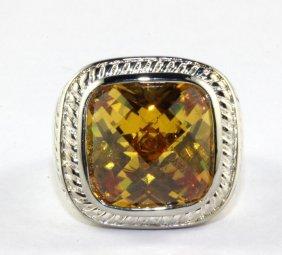 Contemporary David Yurman Style Gemstone Sterling
