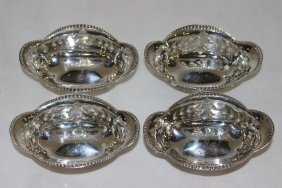 4 Pc. Tiffany & Co. Sterling Pierced Nut Dishes