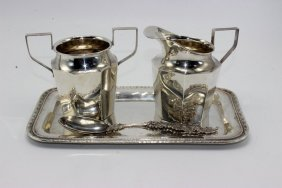 5 Pc. Sterling Creamer & Sugar Set