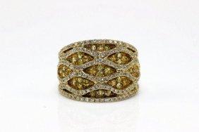 18kt Yg 0.64ct. Yellow Sapphire & 0.86ct. Diamond Ring