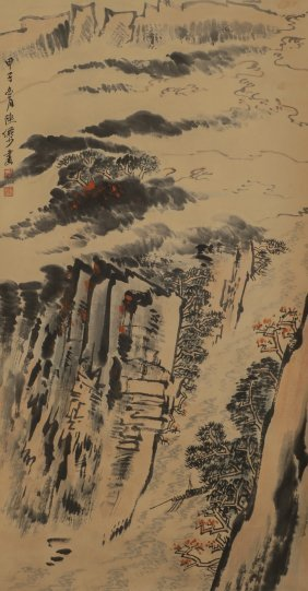 Mountain Landscaping Ink Painting