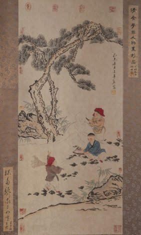 Figure Painting Jinmengshi(1869-1952)