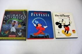 Walt Disney: Three(3) Hardcover Books