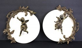 Pair Of Victorian Figural Wall Plaques