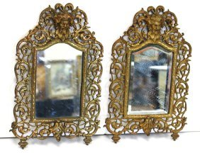 Pair Of Bradley & Hubbard Ornate Wall Mirrors